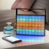 Light Up LED Wireless Bluetooth Portable Speaker With Carry Handle FM Radio