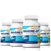 Marine Essentials | Marine-D3 | Anti-Aging | Omega-3 | 4 Bottles (240 Capsules)
