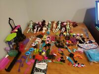 Monster High ever after high lot of 10 dolls plus accessories minis draculara