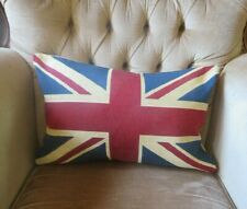 SMALL ANTIQUE VINTAGE STYLE BRITISH UNION JACK FLAG TAPESTRY CUSHION COVER ONLY