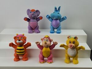 "Vintage 1985 Disney THE WUZZLES Lot of 5 Poseable 4"" Toy PVC Figures by Hasbro"