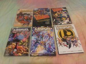 6 DC Comics Legion of Superheroes Lot tpb