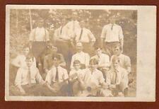 VINTAGE RPPC 1905-1908 ERA*SAILBOAT STAMP BOX*15 MEN BOYS*CAPE MAY NEW JERSEY NJ