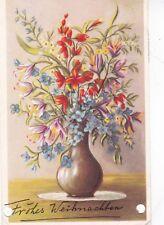 Netherlands 1959 Christmas Greetings Postcard used VGC