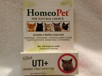 HomeoPet Feline UTI+ Cat Supplement for Urinary Tract Infection 450 Drops 15 mL