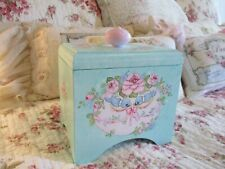 Shabby Chic Hand Painted Roses - Vintage Wood Box with Removable Top