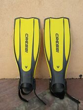 Cressi Sub Pro Light Scuba Snorkeling Fins Yellow & Black Size M/L