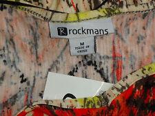 ROCKMANS ScoopedNeckMultiColouredStretch SizeM NWT