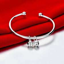 Fashion 925 Silver plated Jewelry Bells Bangles Bracelet K279