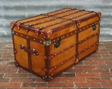 Luxury Handmade Bespoke English Campaign Chest Coffee Table