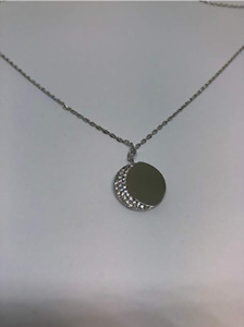 LISA S FULL MOON NECKLACE Pendant Necklace LSN001-043 Silver / Thin Chain