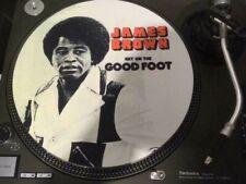 "12""  VINYL RECORD   FELT  SLIPMAT  JAMES BROWN  GET ON THE GOOD FOOT  FUNK"