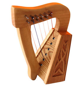 6 Strings Harp With Tunnig Key Christmas Gift Beechwood Quick Delivery