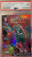 2017 Panini Totally Certified The Mighty #18 Jayson Tatum Rookie RC PSA 9 MINT