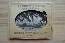 12 Vintage Original Photos von Hans Hartz Hamburg-Stadt-Hafen-Alster