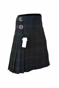 Scottish Black Watch Kilt Men's 5 Yard Casual Tartan Kilt Highland Dress Kilt