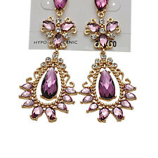 Elegant Women Crystal Vintage Drop Dangle Rhinestone Ear Stud Earrings Jewelry