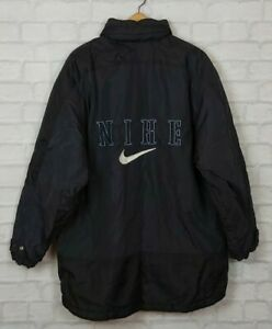 VINTAGE 90s RARE NIKE SPORTS RETRO BRIGHT SPELL OUT BOLD PADDED COAT JACKET