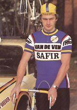 CYCLISME carte cycliste MARC VAN GEEL  équipe VAN DE VEN SAFIR 1983