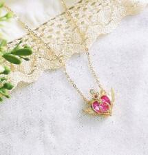 Sailor Moon Crystal Heart Pendant Necklace, Sailor Moon Heart Charm Necklace,
