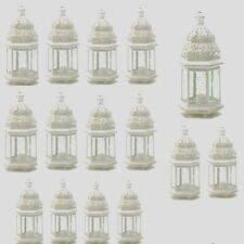 "15 Moroccan Style Lantern Creamy White Candleholder Wedding Centerpiece 12"""