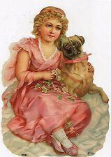 1 Arc brillance images scraps filles avec chien grand EF 7097 Nº 611