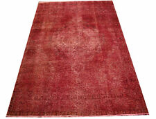 Rug Vintage Overdyed 200x300 CM 100% Wool Used Look Magenta