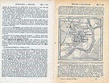 Millau 1923 pt. plan ville orig. + guide (2 p.) St-Martin Beffroi Fbg. du Pont