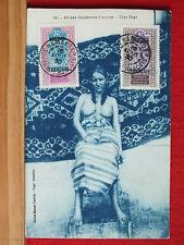 Fotokarte - Indigene Frau -Type Daga - oben ohne - Soudan Francais - gel 1930