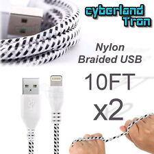 2x NEW Guarantee Nylon iPhone 7 6 6S Plus 5C Data Sync USB Cable Charging Cord
