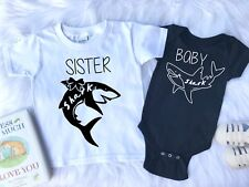 Sibling Outfit, Sister  Shark, Brother Shark, Baby Shark, Shark Outfit