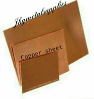 0.7 MM thick - COPPER SHEET PLATE  -guillotine cut- many sizes.