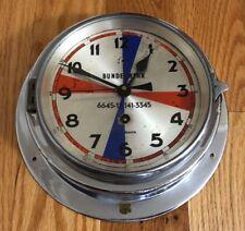 Vintage German Bundeswehr Burk Nautik Clock Army Radio Room Clock