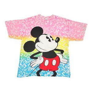 80s Vintage DISNEY MICKEY Mens All Over Print T Shirt Medium | Single Stitch