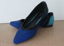 Ladies New Look Size 6 Toni Navy Flat Shoes Blue Tone Flats