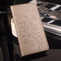Funda libro flip piel sintetica tapa mariposas para ZTE Blade A510