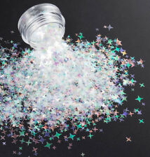 USA New Colors~4 POINT STAR GLITTER SEQUINS~You Pick Color~Acrylic/Gel/Nail Art
