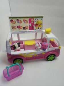 Shopkins Season 3 Food Fair Scoops Ice Cream Truck Toy Vehicle Figures Basket