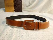 Vintage Worthington Leather Belt #1943 Brown w/ U-Shaped Buckle sz M