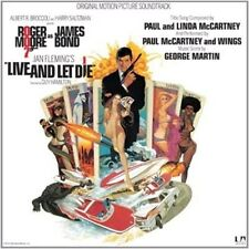 James Bond Live and Let Die Original Soundtrack 180 Gram LP Vinyl Record Reissue