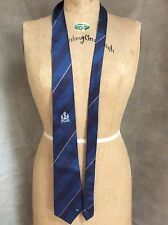 Bangladesh Navy 100% Silk Blue Necktie Tie BN ANCHOR NECK TIE Diagonal Stripe