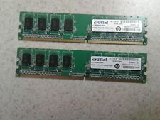 2GB SET - CRUCIAL 1GB X 2 PC2-5300U DDR2 DESKTOP MEMORY RAM - 2 PIECES @ 1GB EA