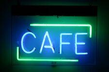 "Cafe Coffee Shop Neon Lamp Sign 14""x10"" Acrylic Bright Lighting Artwork Glass"