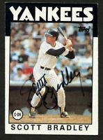 Scott Bradley #481 signed autograph auto 1986 Topps Baseball Trading Card