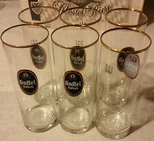 Gaffel Kölsch - Set of 6 German Beer Glass 0.4 Liter - NEW