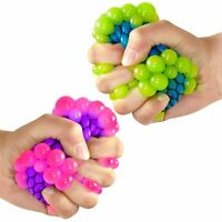 Set of 2 Squishy Mesh Ball Sensory Toys - Fiddle Fidget Stress Sensory Autism