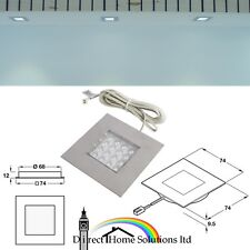 Loox Compatible HE LED Spotlight 12V, 74x74mm Rated IP20 Wet Area Bathroom Light