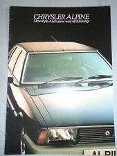 Chrysler Alpine range brochure c1978 UK market ref C9564/1/100