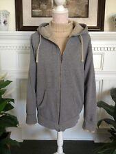 Sonoma Life+Style Women's Medium Fleece Lined Hoodie Gray Zipper Jacket