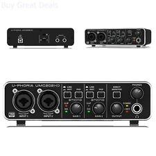 Behringer UMC202HD U-Phoria USB Audio Interface With MIDAS Microphone